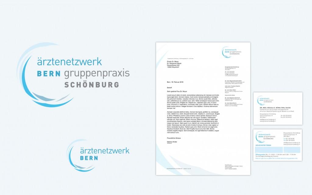 BüroBayer – Grafikdesign, Webdesign, Corporate Design aus Dortmund - Büro für Gestaltung ⤷ Gruppenpraxis Schönburg